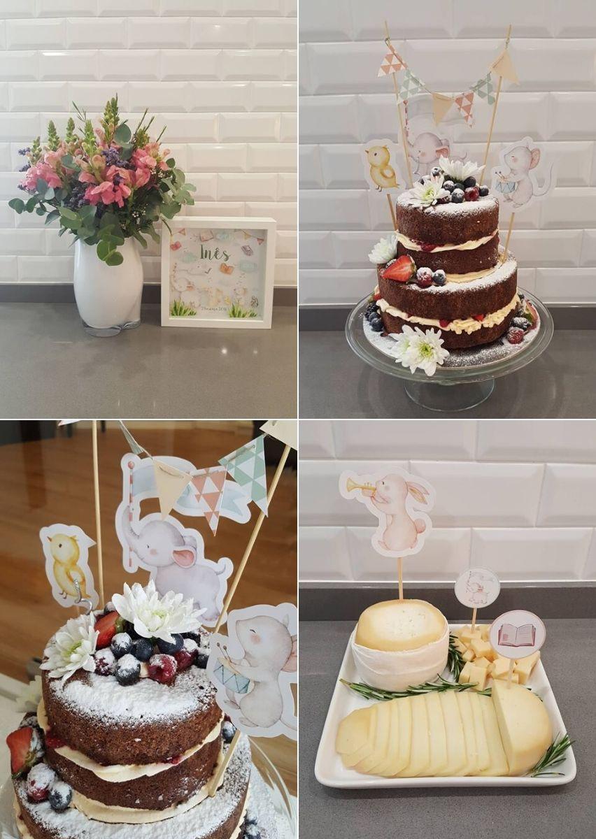 Cake Topper_Bolo Aniversário Animais