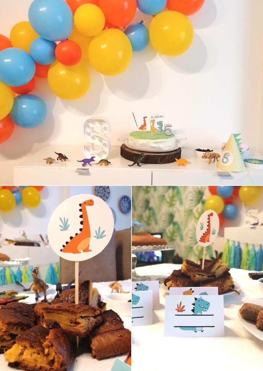 Kit de Festa de Aniversário_Dinossauros